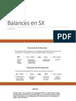 Balances en SX
