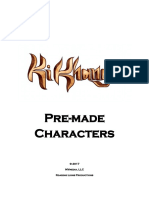 Ki Khanga Pre Made Characters