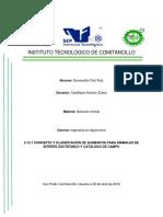 2.1 Concepto y Clasificacion de Os Alimentos Para Animales de Interes Zootecnico