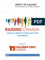 Raising Canada report for Children First Canada