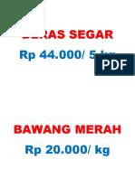 Label Beras Segar
