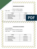 Cronograma de Examenes 3años