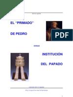 Primado de Pedro vs Institucion del papado