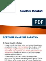 Pelaksanaan Analisis Jabatan - Umum