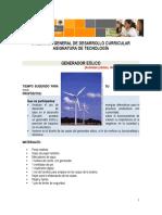 Actividad generador eólico