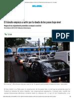 El Tránsito Empieza a Sufrir Por La Deuda de Los Pasos Bajo Nivel - La-ciudad
