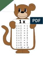Tablas de Multiplicar 1 10