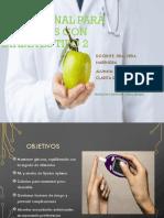 Terapia nutricional para pacientes con diabetes tipo 2