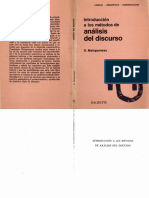 Maingueneau Introduccion a Los Metodos de Analisis Del Discurso (1)
