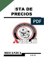 Anclo- Precios Mecanica Mayo 18