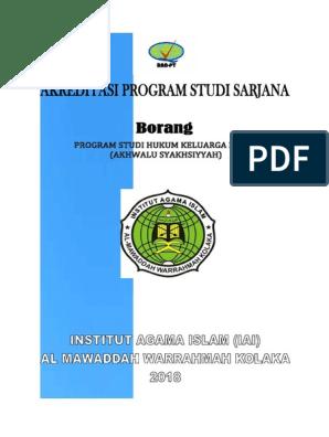 Identitas Borang Program Studi