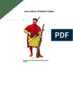 Povijesne Odore Hrvatske Vojske