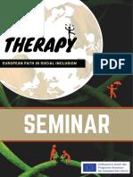 Programmheft Fachseminar Art Therapy EU Erasmus Project an European Path of Social Inclusion U BerBru Cken 2018