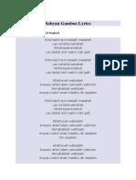 Sabyan Gambus Lyrics.docx