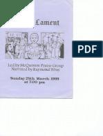 pilates lament 28 march 1999