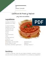 Recept voor jelly cake met aardbeien