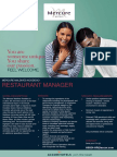 Job Vacancy Mercure Maldives Kooddoo - RESTAURANT MANAGER