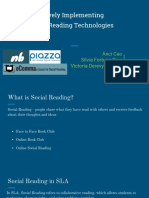 effectively implementing social reading technologies