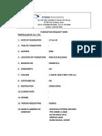 Request Fumigation Form 17 Julai No 2