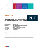 Indonesia National HFA progress 2013-15