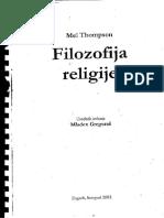 Filozofija Religije Mel Thompson
