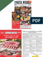 "Kuta Weekly - Edition 587 ""Bali's Premier Weekly Newspaper"""