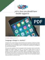 social media - language impact
