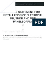 Panel Installation - Method Statement