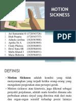 Ppt Farmakoterapi Motion Sickness