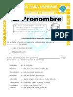 Ficha Pronombre Definicion Para Sexto de Primaria