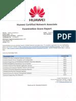 HCNA Routing& Switching Exam Result