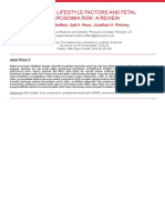 Maternal Lifestyle Factors and Fetal Macrosomi Risk a Review