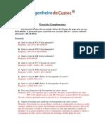 Exercício Complementar EVM Gabarito
