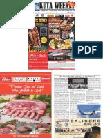"Kuta Weekly - Edition 595 ""Bali's Premier Weekly Newspaper"""