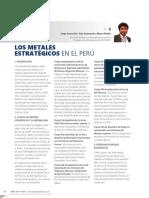 Acosta, J. D,Huanacuni (2016) Los Metales Estratégicos en El Perú