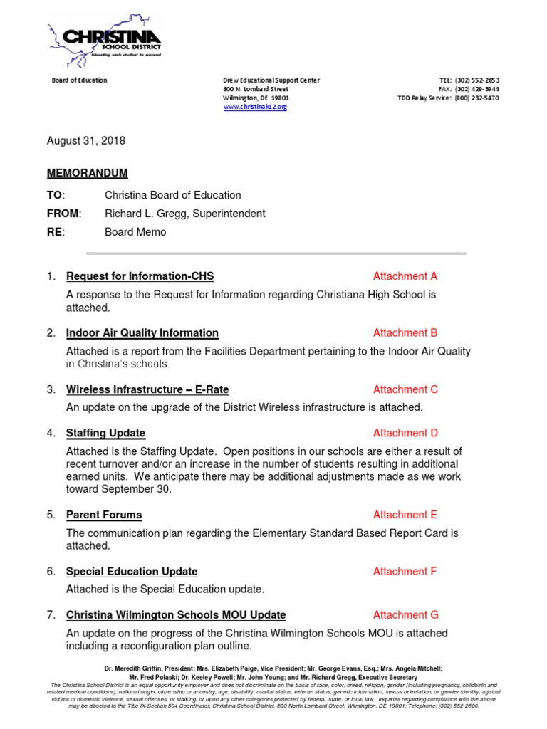 Memo Outlines Education Dept Plans To >> 2018 08 31 Board Memo Complete Hvac Engineering Thermodynamics