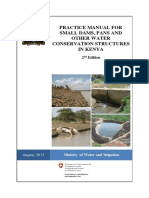 Practice Manual for Small Dams Pans and Other Water Conservation Structures in Kenya
