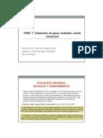 Tema 1. Saneamiento y Manejo de Aguas Residuales a Nivel Nacional 24.08.16