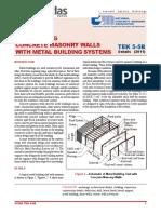 Metal Buildings and CMU Walls