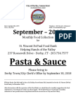 Town Clerk - Food Collection - September 2018