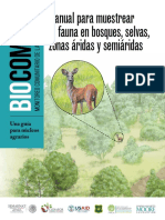 Manual de Monitoreo de Fauna