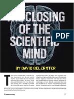 Gelernter the Closing of the Scientific Mind