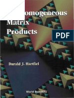 Non Homogeneus Matrix Product