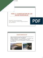 Tema 2. Clasificacion de Las Aguas Residuales 24.08.16