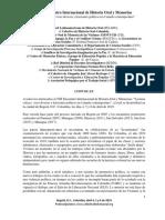 Convocatoria VIII Encuentro 2019
