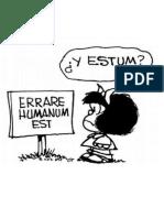 El latim por Mafalda - Quino