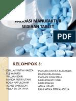 Validasi Manufaktur Sediaan Tablet