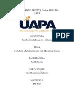 Unidad 2-El Estudiante Adulto (Participante) en La Educación a Distancia
