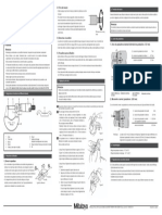 Mode d'Emploi Micrometre Mecanique