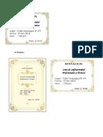 Invitaciones Cena Firme 2018